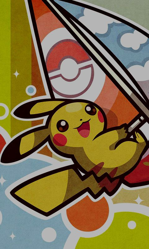 Pikachu Surfing. HD Wallpaper for your phone. If you want ...