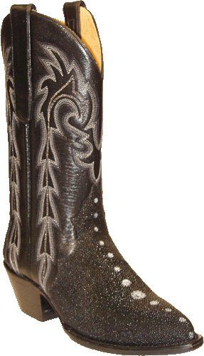 Awesome Star Boots Womens Genuine Stingray Cowgirl boots (Floral Pattern)