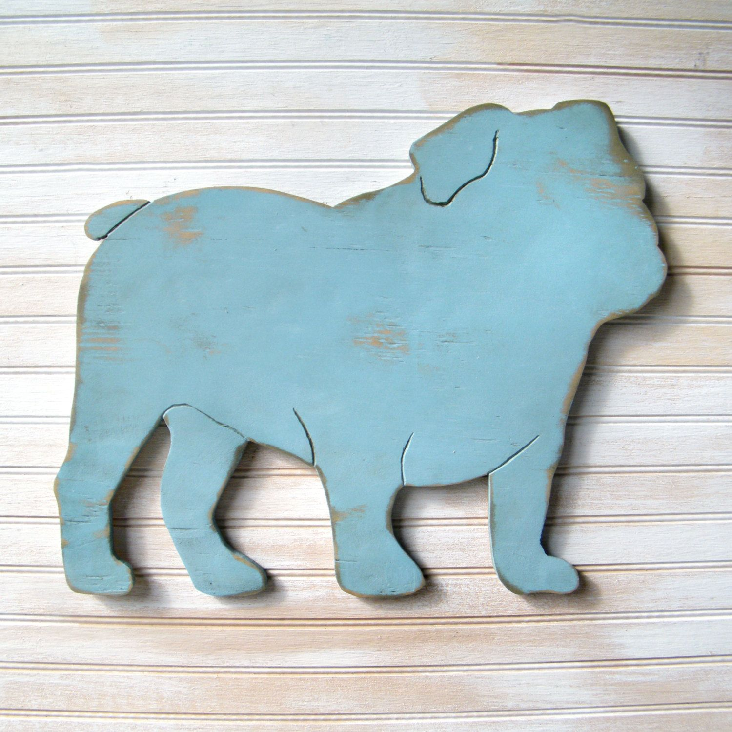 English Bulldog Sign Dog Home Decor English By SlippinSouthern