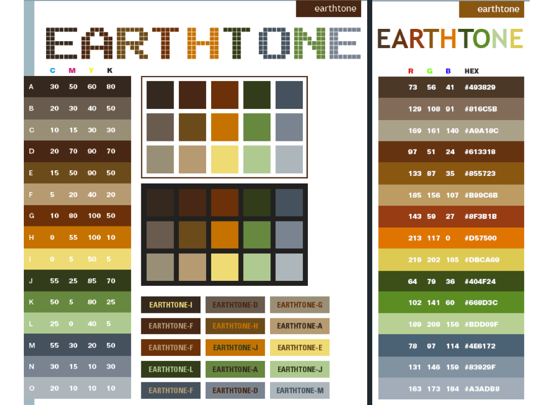 Earth tone colors palette | ::Earth tone colors ...