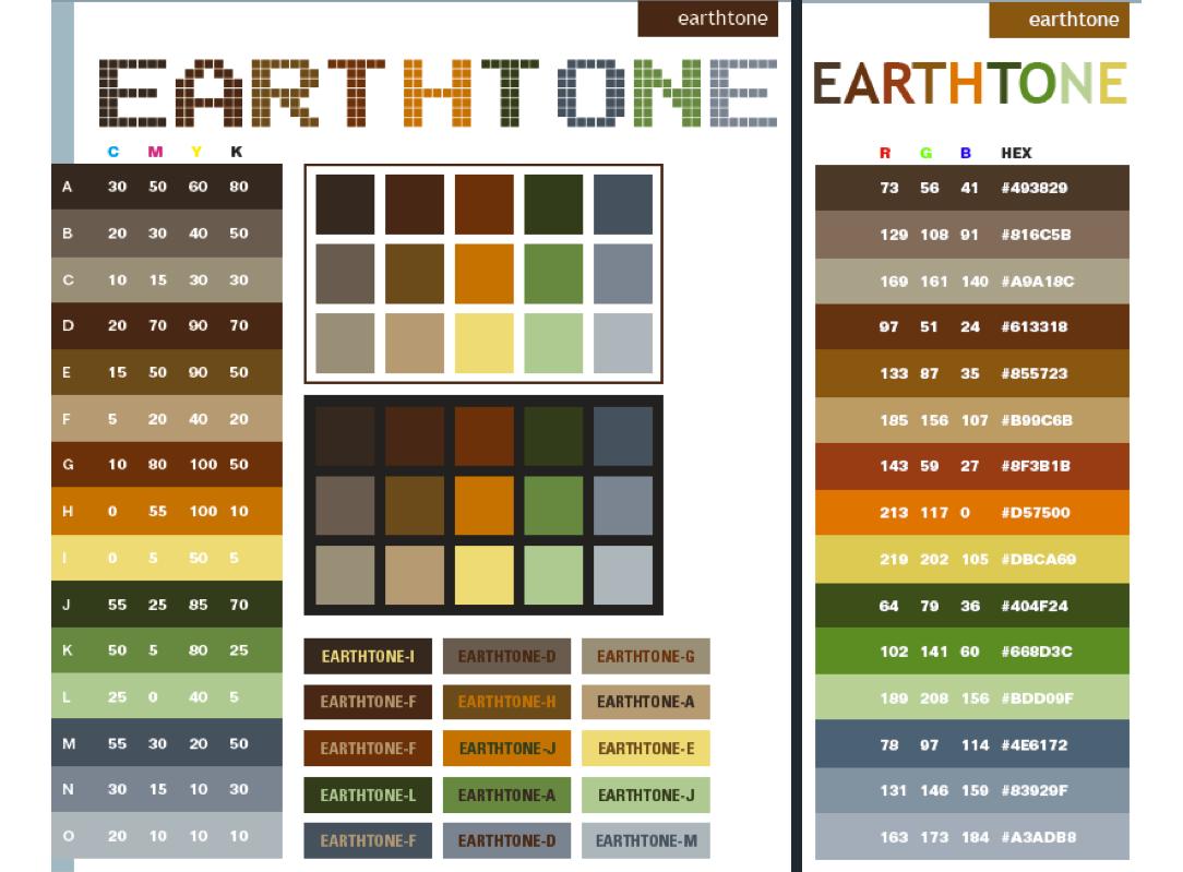 Earth tone colors palette earth tone colors for Natural paint color palette