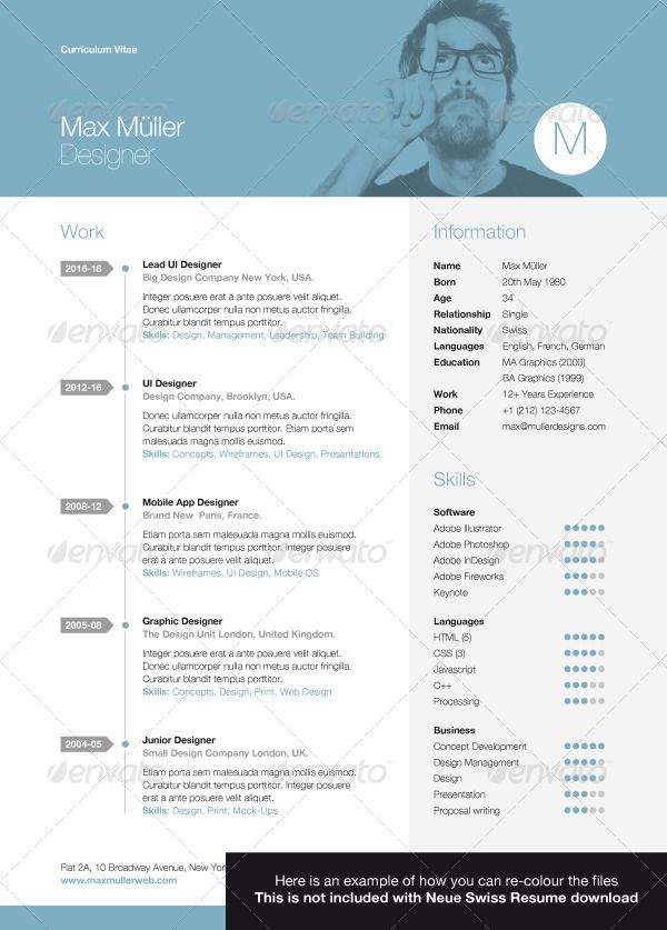 20 Best Creative Resume Templates Examples Resume Template Examples Creative Resume Templates Resume Templates