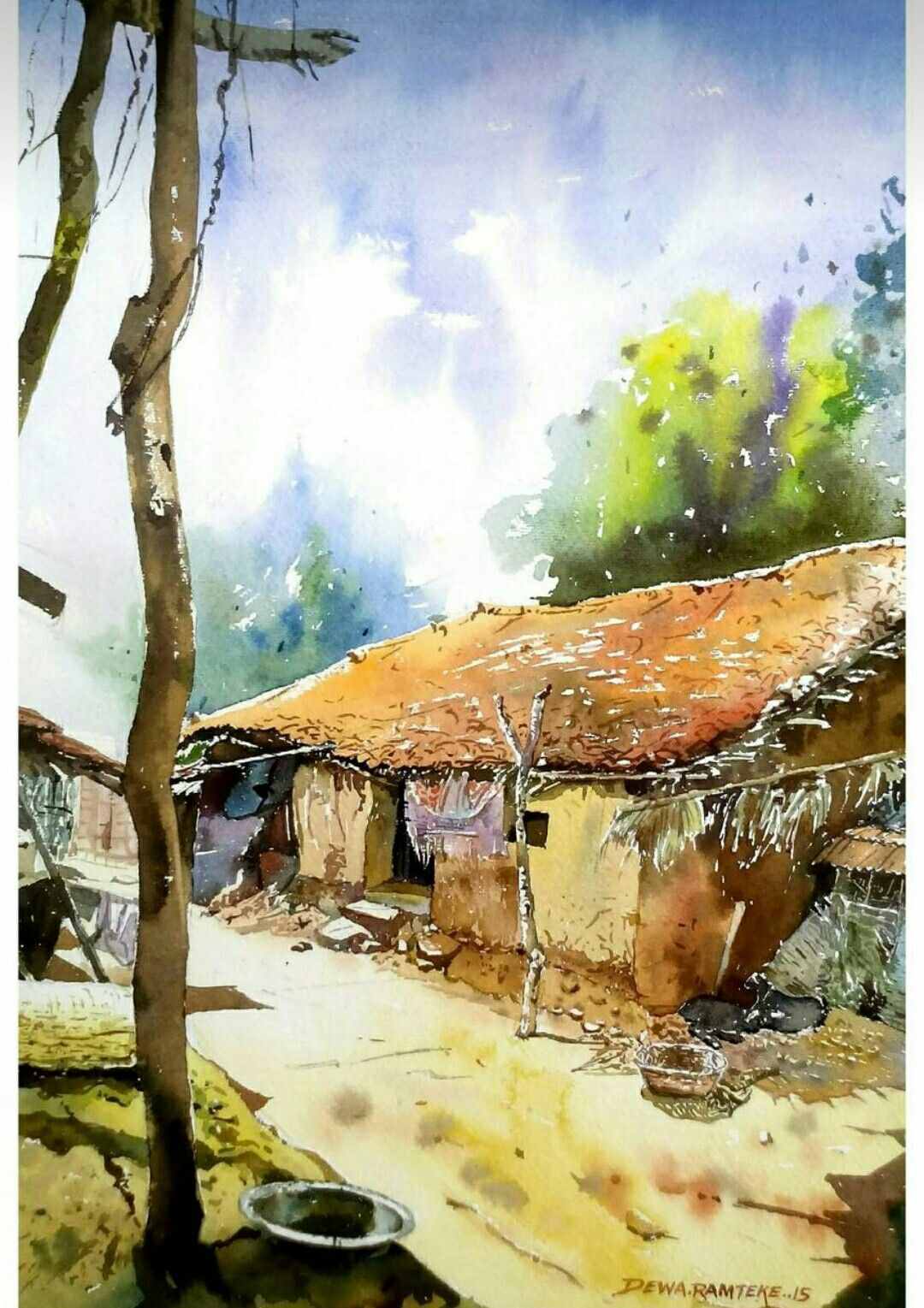 Pin By Sabitha On Water Color Painting Beautiful Paintings