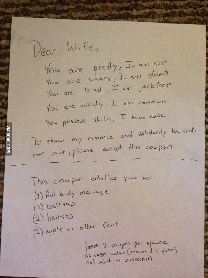 Dear wife AAAAAhahahahaha Pinterest - love letter to my husband