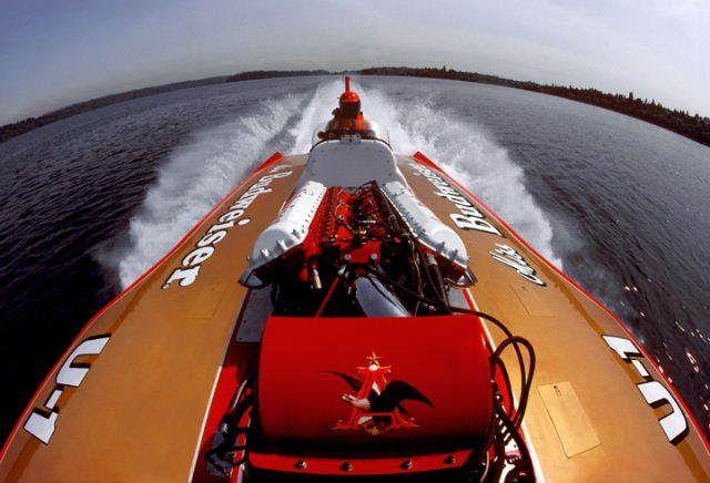 On board U-1 Miss Budweiser Miss Bud classic unlimited class hydroplane hydroplanes hydro hydros racing boat boats