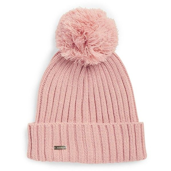 c35a28f0241 Calvin Klein Pom Pom Ribbed Knit Hat ( 34) ❤ liked on Polyvore featuring  accessories