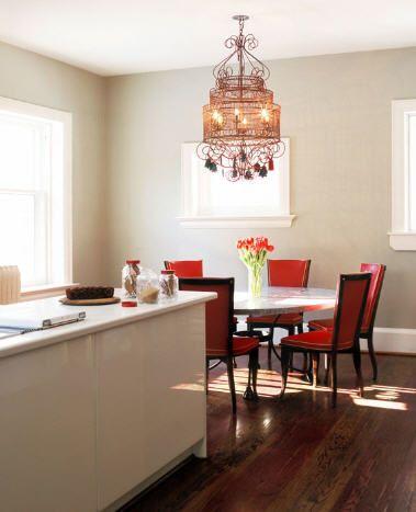 comedor  Comedores Elegantes con Candelabros o Lámparas de Araña
