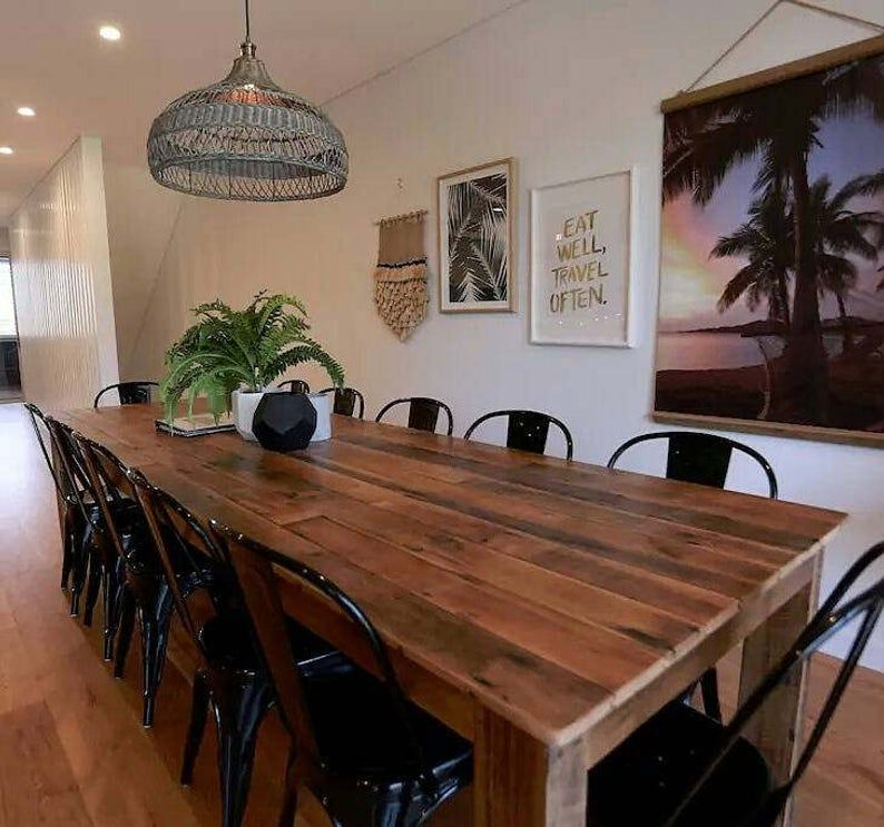 Awesome 3 Metre Recycled Timber Dining Table And Optional Bench Creativecarmelina Interior Chair Design Creativecarmelinacom