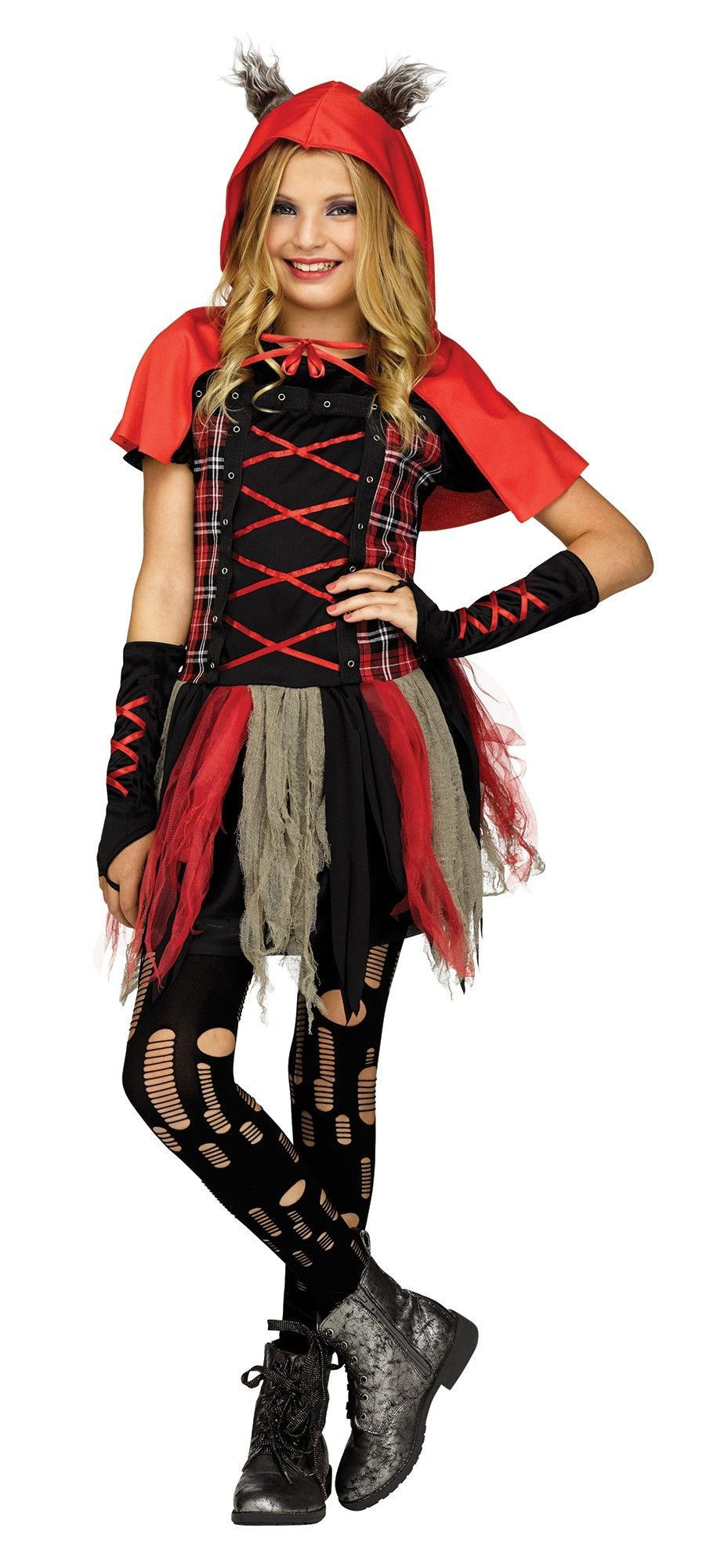 Little Red Wolf Girlu0027s Costume  sc 1 st  Pinterest : wolf girl costumes  - Germanpascual.Com