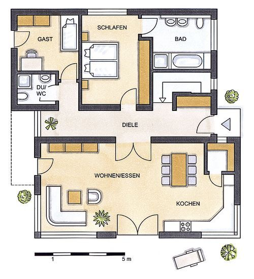 frontansicht praktikhaus bungalow chalet 127 2 wohnen. Black Bedroom Furniture Sets. Home Design Ideas