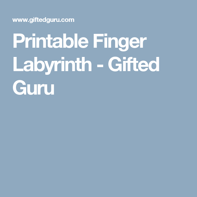 It is a photo of Genius Finger Labyrinth Printable