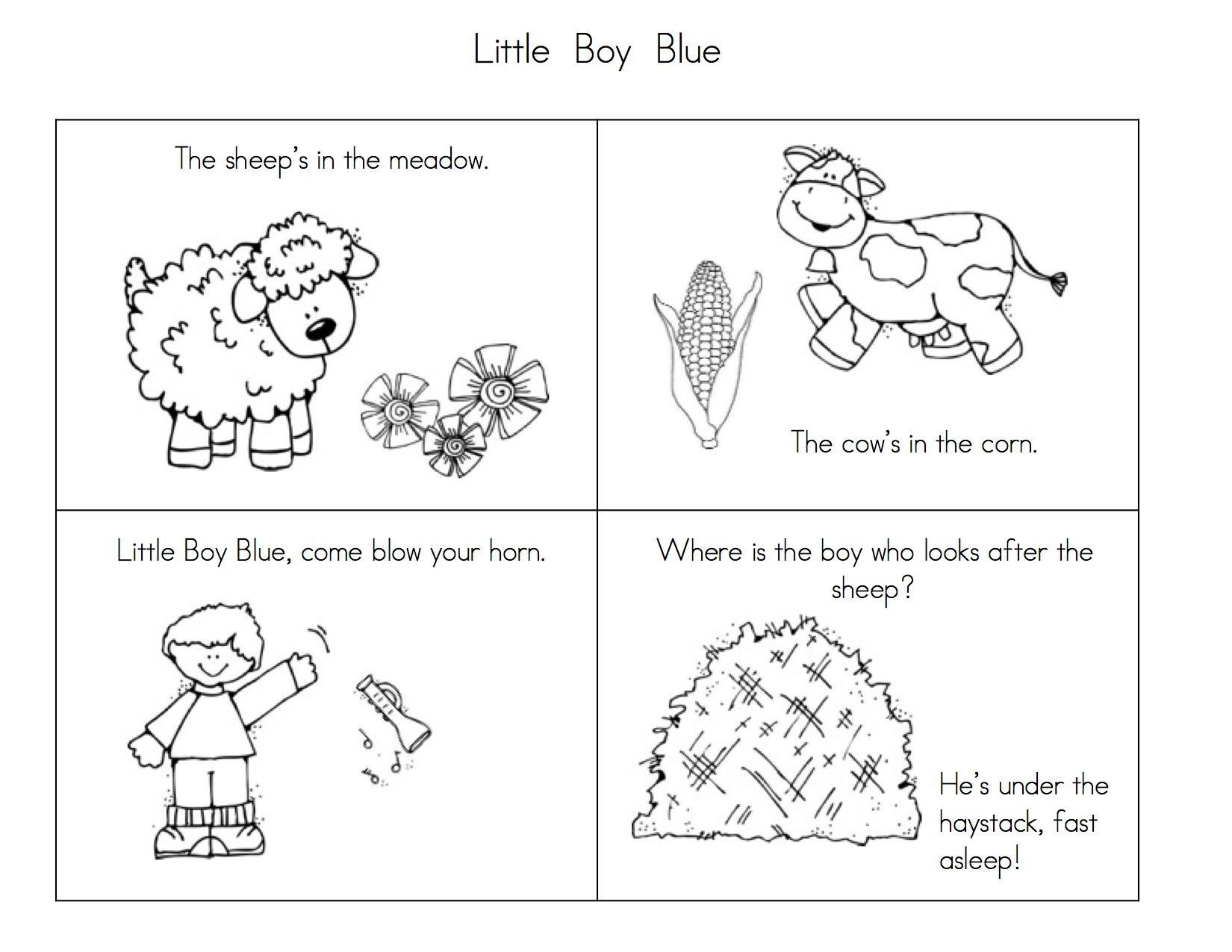4 Worksheets Nursery Rhyme Jack And Jill In With
