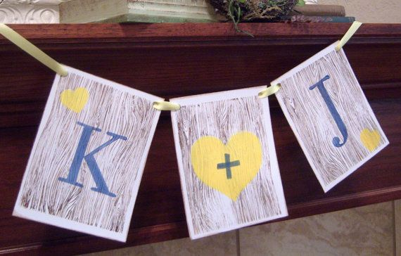 Better than carving initials in a REAL tree! My Beloved Personalized Initial banner wedding by lolaandcompany, $12.00