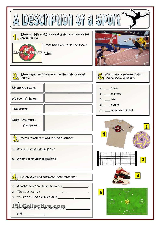 description of a sport sepak takraw listening pinterest actividades de ingles. Black Bedroom Furniture Sets. Home Design Ideas