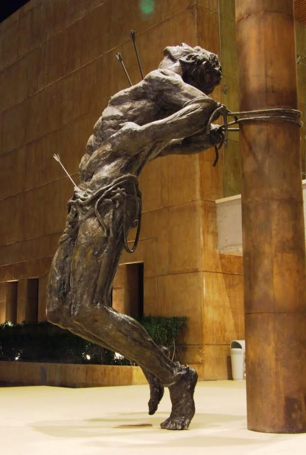 Motilla Ricardo, San Sebastiano, statua in bronzo