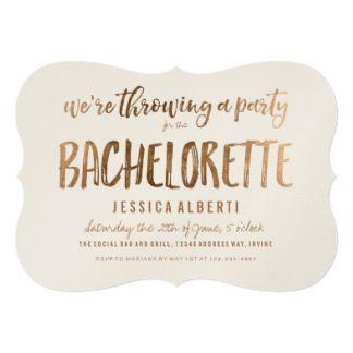bachelorette invites