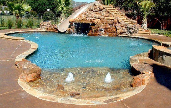 Pool Waterfall Ideas You Can Recreate in Your Backyard ландшафт