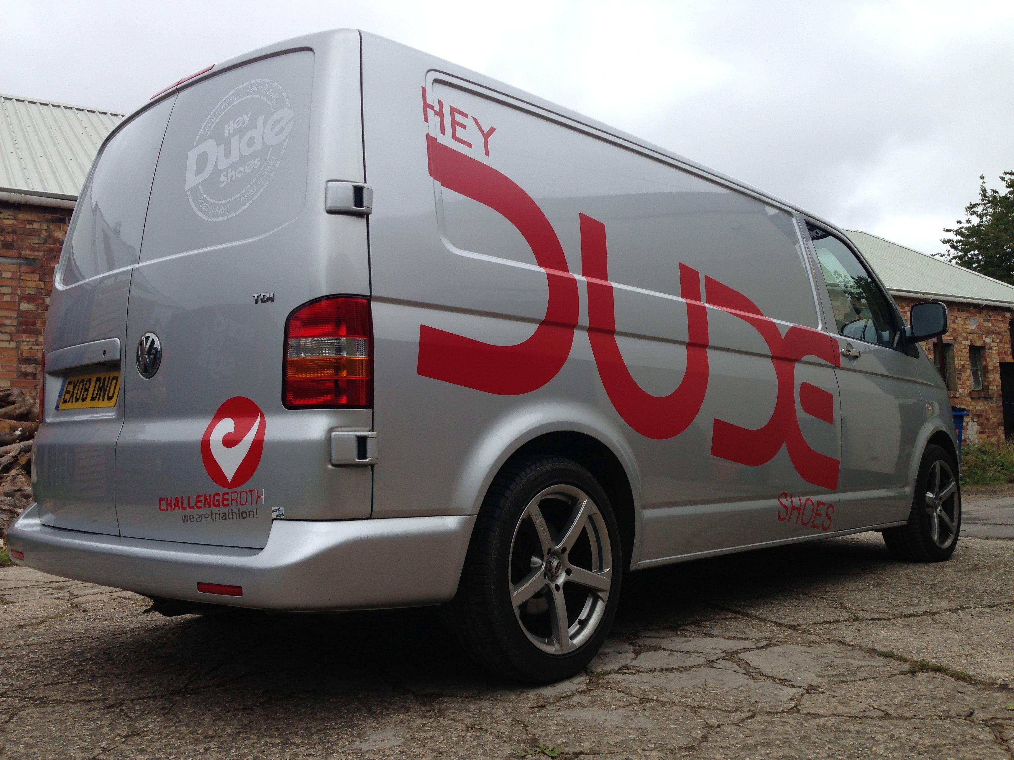 7d42058d26 Dude Shoes vehicle graphics. Vans Logo