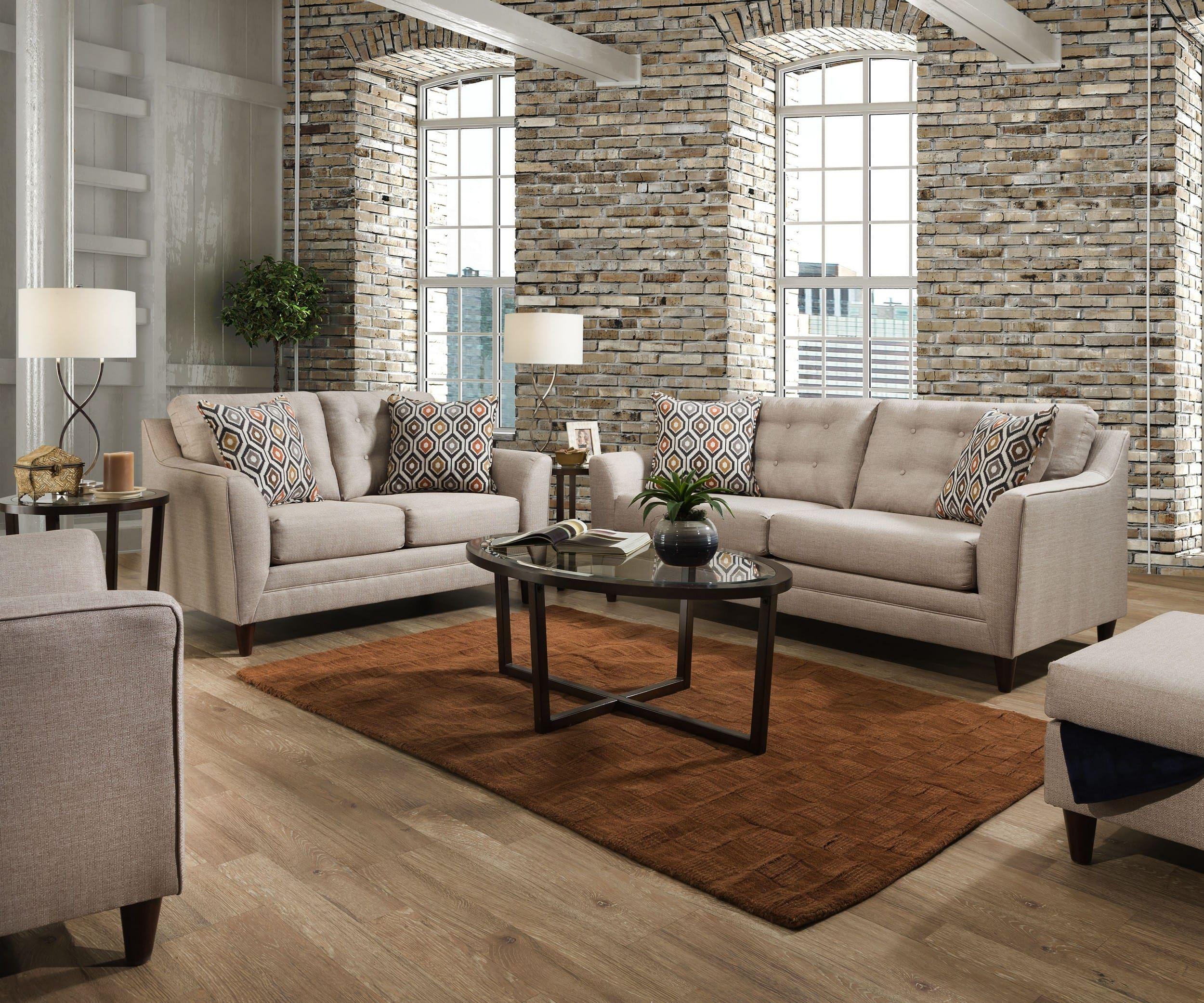 Newcastle Platinum 3 Pc Living Room W Sofa Chaise Living Room Sets Furniture Living Room Sets White Sofa Living Room