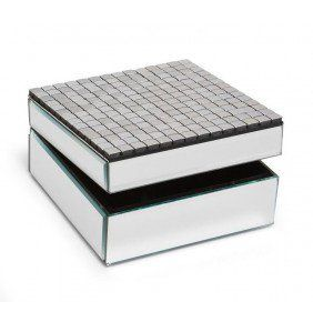 Allure by Jay Square Mirror Tile Jewelry Box Holiday Gift Guide
