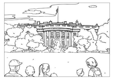 Attractive The White House Colouring Page