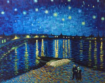 Image result for Starry Night Over the Rhone van gogh