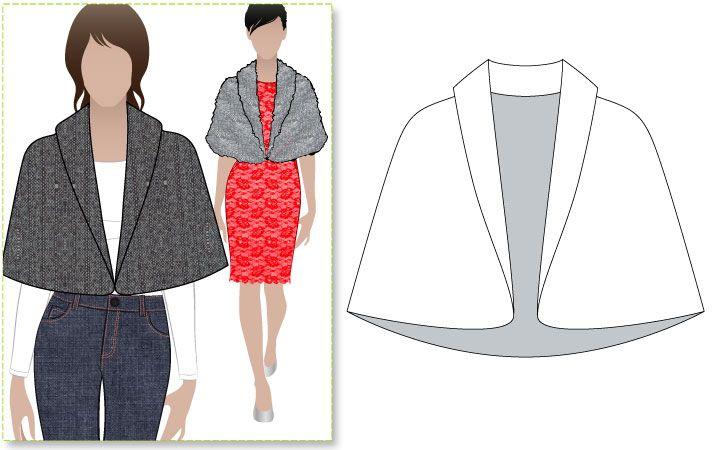 Faux fur cape - sewing pattern