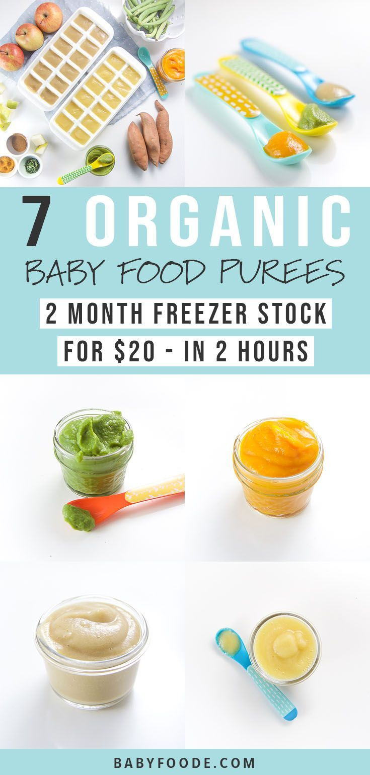7 Organic Baby Food Recipes for $20 (Complete GUIDE - Baby Wear #homemadebabyfood