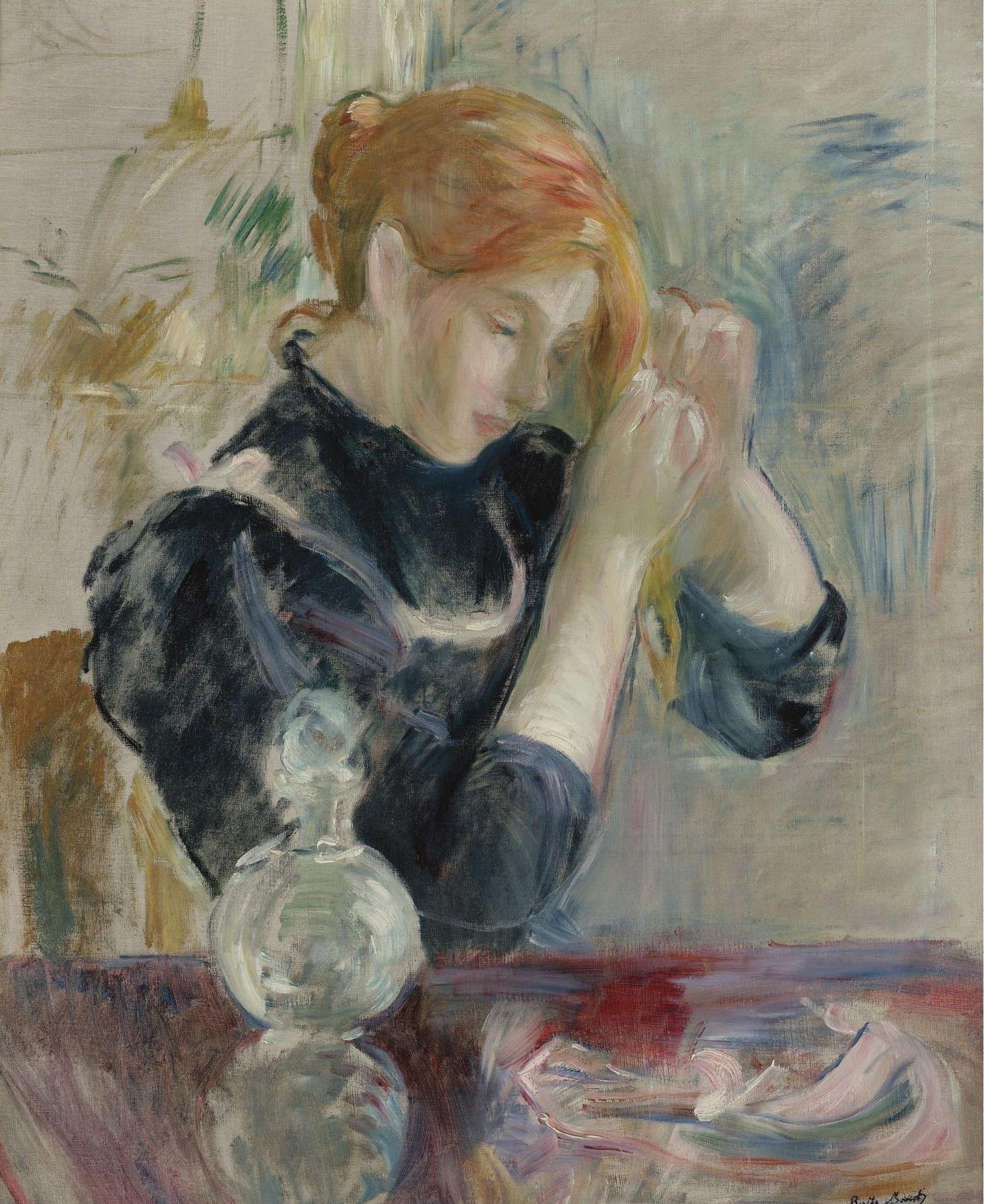 Berthe Morisot - By the Toilette | Berthe morisot, Morisot, Art