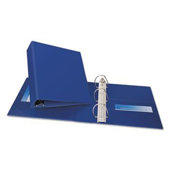 """Durable Binder With Two Booster Ezd Rings, 11 X 8 1/2, 3"""", Blue"""