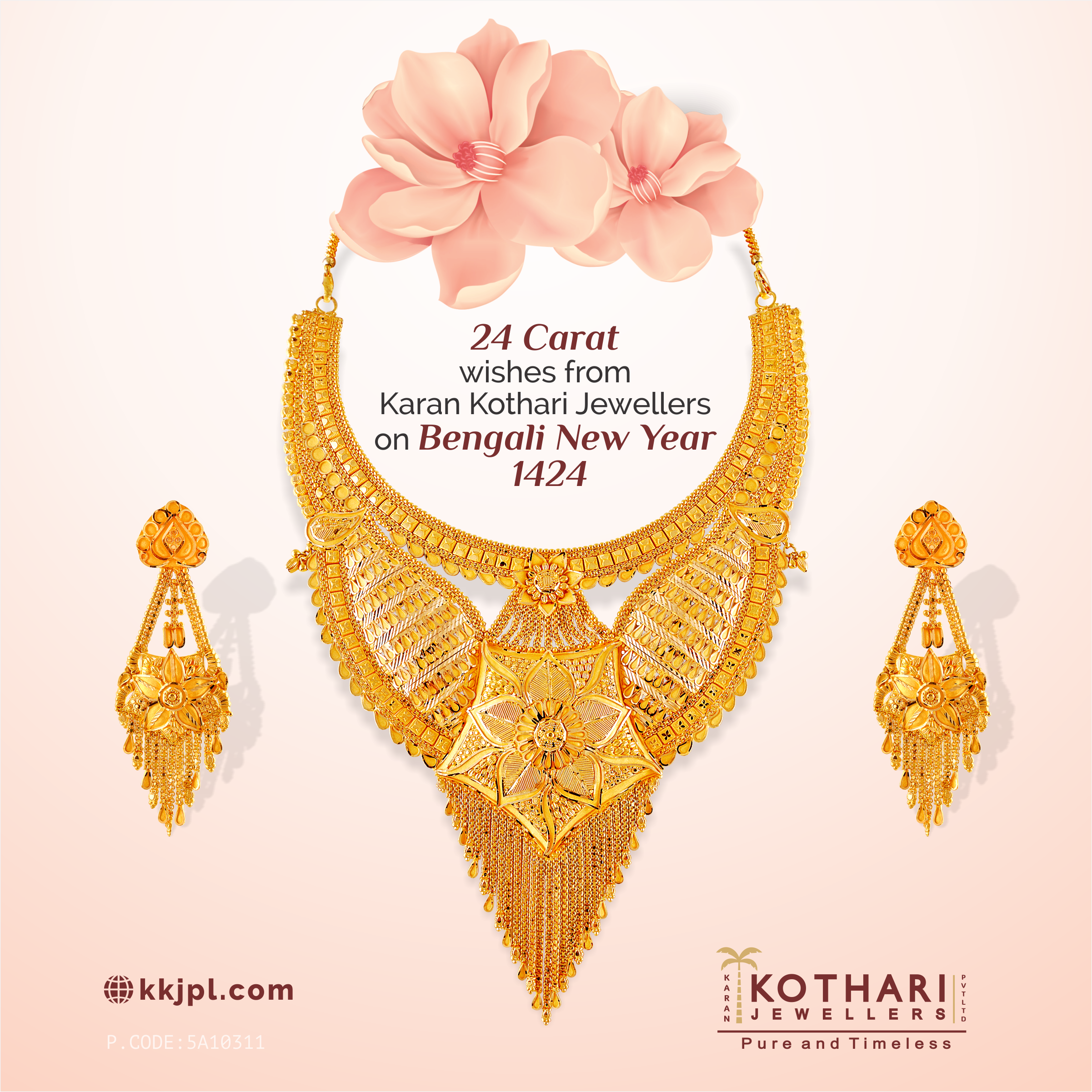 24 Carat wishes from KKJPL on Bengali New Year 14 24 #necklace ...