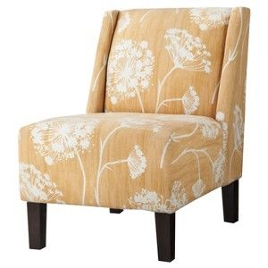 Hayden Armless Chair - Yellow Floral