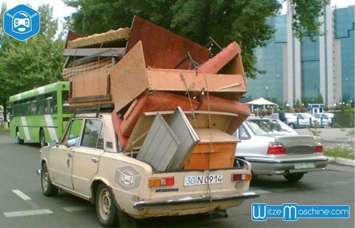 Umzugswagen In Russland Russisches Auto Funny Russian Fail