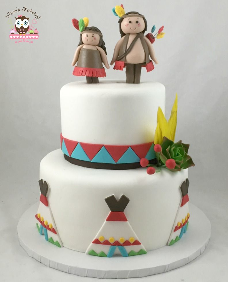 Indian Cake, Tee Pee Cake, Feather Cake, Cowboys And
