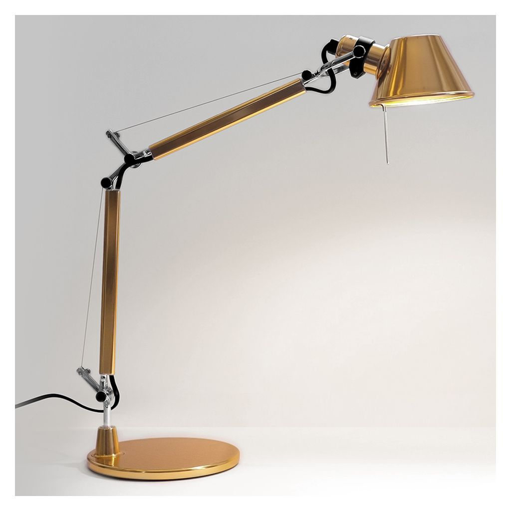 Tolomeo Micro Lamp Gold Table Lamp Contemporary Table Lamps Shelf Lamp