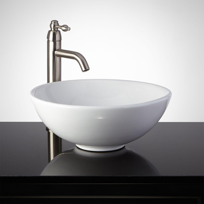 Conifer+Porcelain+Vessel+Sink signature hardware | bathrooms ...