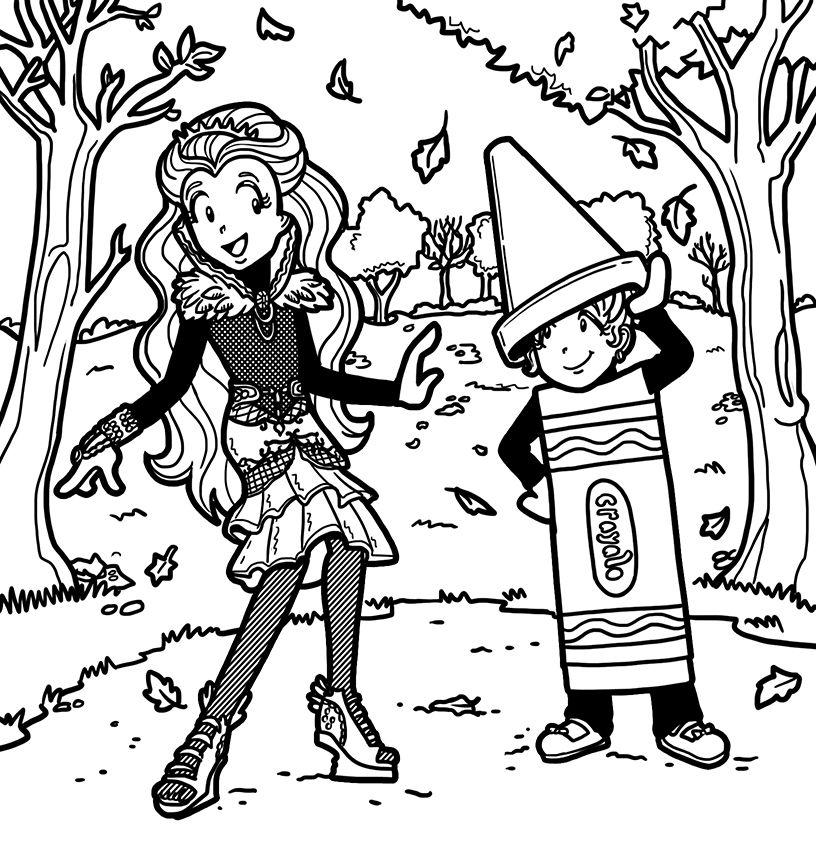 Nikki As Raven Queen And Brianna As A Crayon Dork