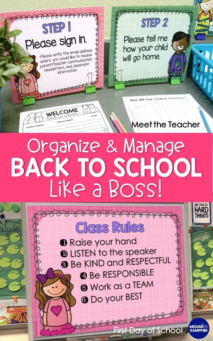 Back to School Classroom Management Bundle #meettheteacherideas