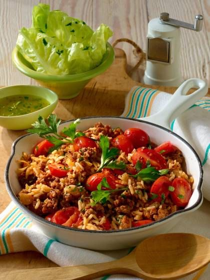Photo of Rice pan with mince and small tomatoes