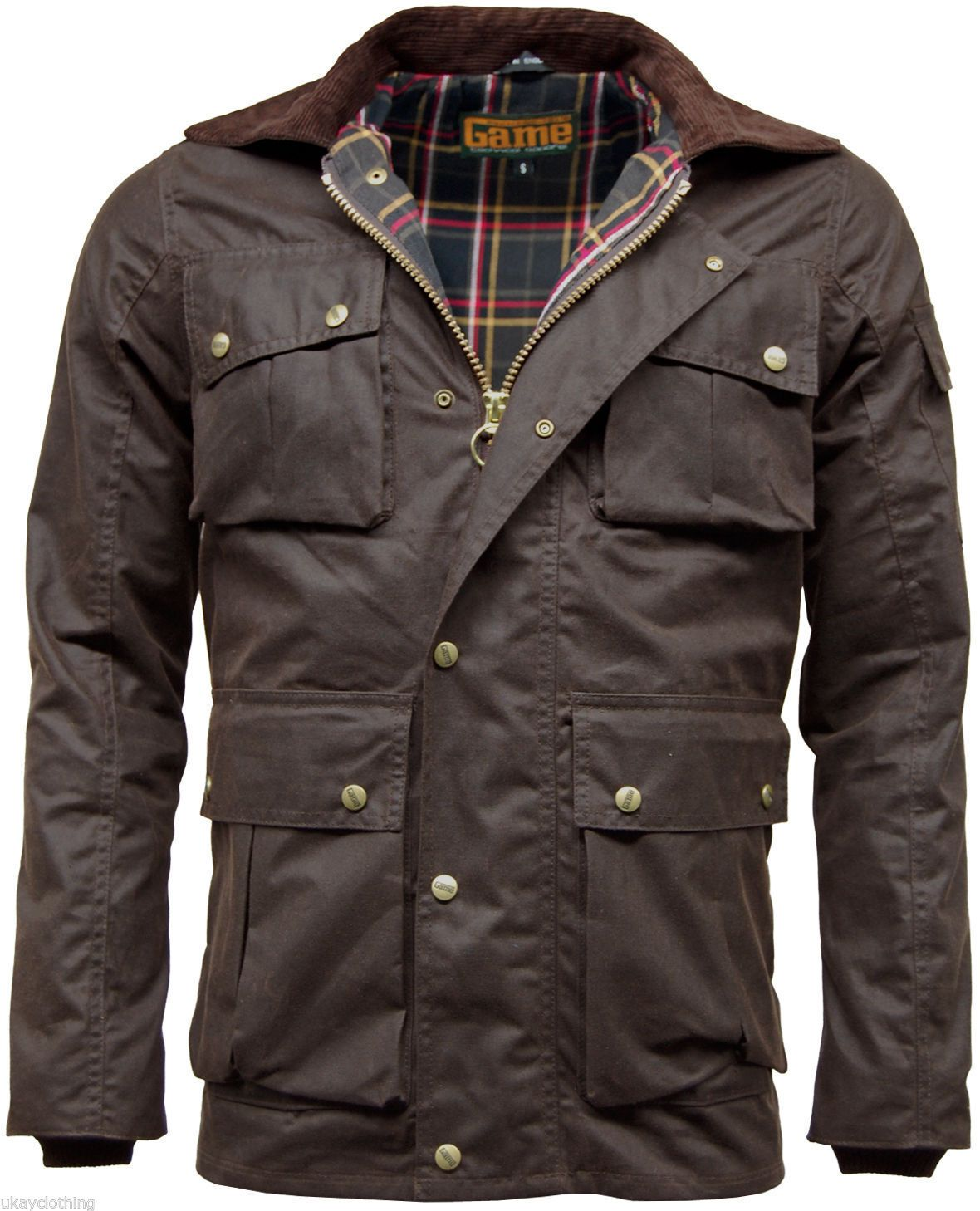 Mens Game Utilitas Waxed Cotton Wax Jacket Utility Muliti