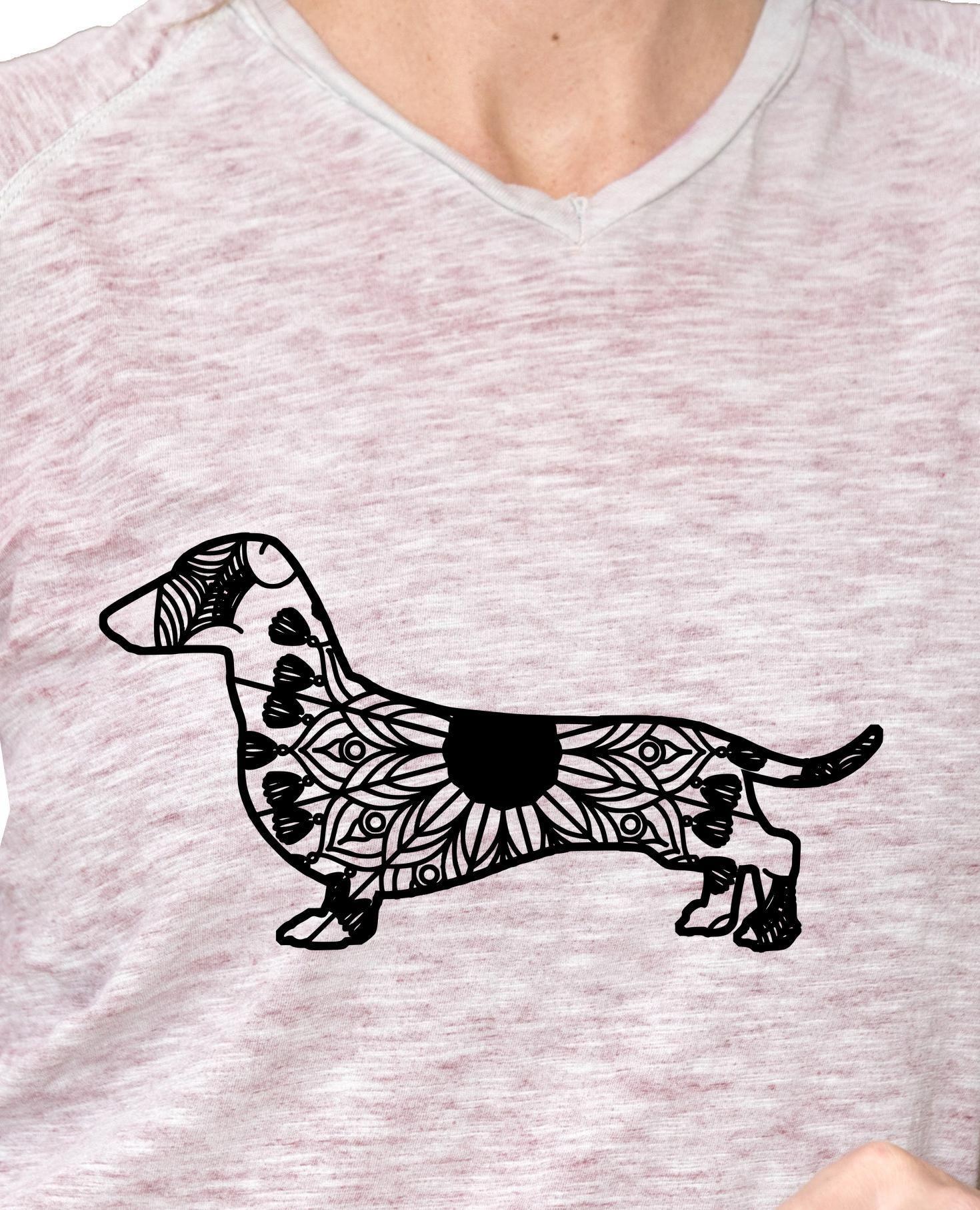 Dachshund Mandala Animal Svg T Shirt Designs Dachshund Tattoo
