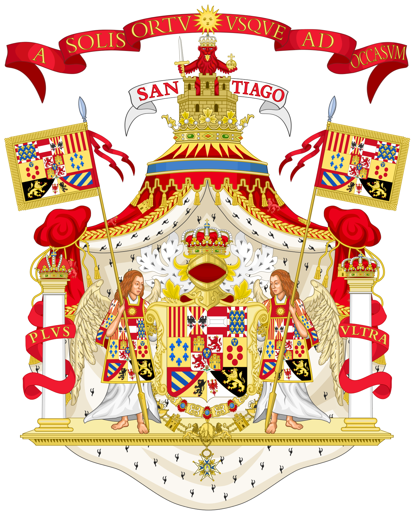 Royal coat of arms of spain 1761 1868 and 1874 1931 armorial royal coat of arms of spain 1761 1868 and 1874 1931 buycottarizona Images