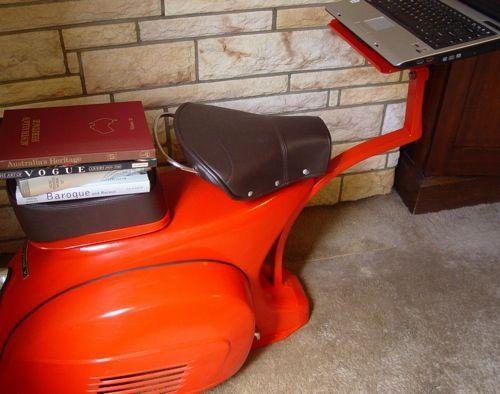 Vespa Workstation Via Furniture Fashion Vespa Vespa Scooters Creative Workspace