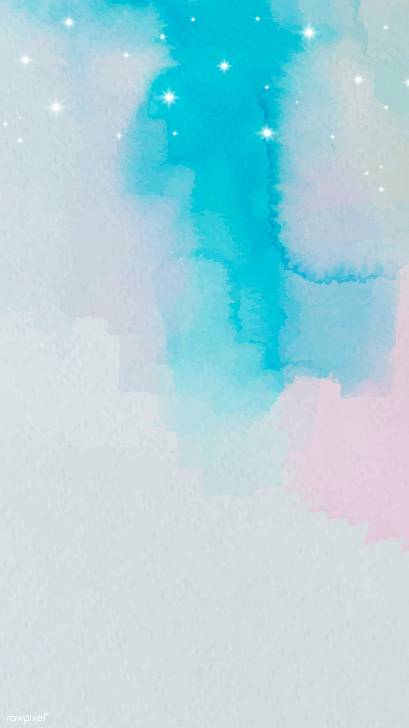 Download premium vector of Blue and pink watercolor