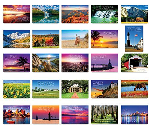 America The Beautiful Postcard Set 50 Modern Post Cards Variety