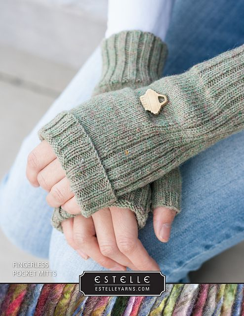 Ravelry: Fingerless Pocket Mitts pattern by Shannon Charles | Free ...