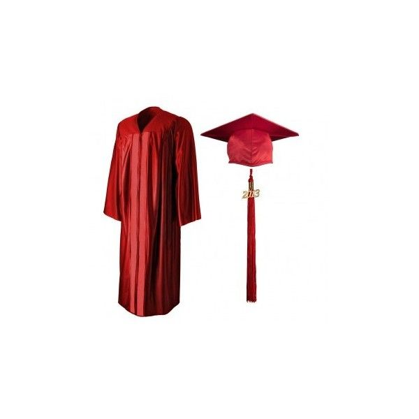 Shiny Red Cap Gown Tassel 19 Liked On Polyvore Featuring Accessories Hats Graduation Hat Tassel Cap Cap Hats Tassel Hat Cap Gown Red Ball Gowns Tassle Dress