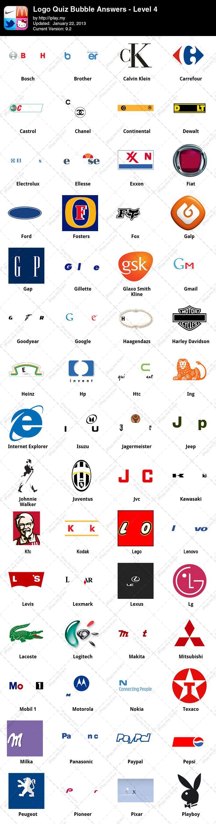 Logo Quiz Answers Iplay My Logo Quiz Logo Quiz Answers Fashion Logo Branding
