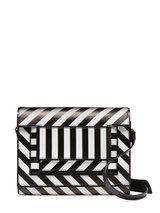 Striped Leather Crossbody