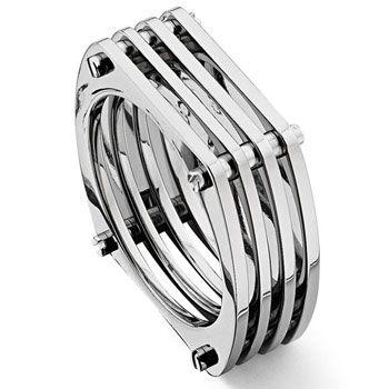 Titanium Mesh Men's Band Ring $120
